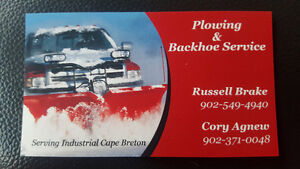 PLOWING/SALTING SYDNEY AND SURROUNDING AREAS 902-549-4940