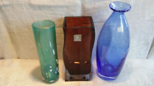 Art Glass Vases, Royal Doulton, AMICI & Phoenician from Malta