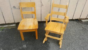 Chaise bercante chaise enfant