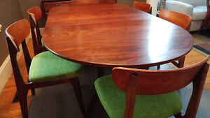 Mid Century Afromosia Dining Table