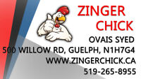 ZINGER CHICK GUELPH - NOW HIRING!