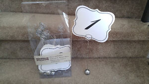 Table numbers for Wedding or other events