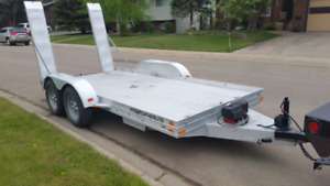 """Featherlite aluminum trailer 14x6' 1.5""""wide. with winch"""