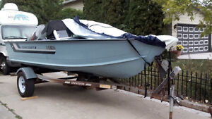 1986 Starcraft 16 Foot Aluminum Boat, open Bow 75 Hp  only $4495