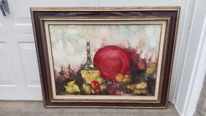 VINTAGE OIL PAINTING STILL LIFE ORIGINAL