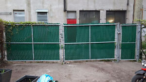 Frost fence gate double swing 6ftx18ft and single swing 6ftx3ft