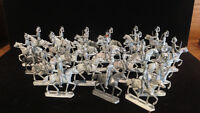 MARCH BREAK - LOT OF 25 OLD GERMAN TIN SOLDIERS