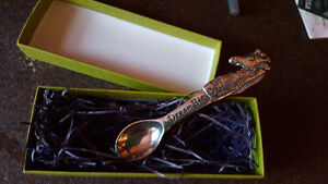 "Baby spoon pewter. ""Dream Big""- With box"
