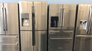 STAINLESS STEEL APARTMENT SIZE FRIDGES STOVES WASHERS DRYERS