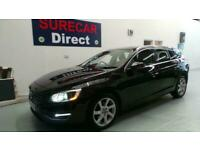 2014 Volvo V60 D4 Se Lux Nav Dr Estate Auto in Black with Heated Leather Seats