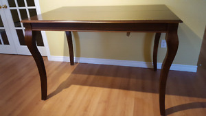 Solid wood pub height table