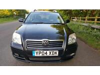 2004 Black Toyota Avensis 1.8 T3-X 5dr Hatchback 12 SV. STAMPS LONG MOT 03/2018