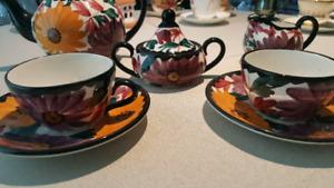 Shramberg handgemalt tea set for two