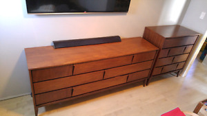 Mid-century dresser and chest of drawers
