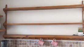 Solid wooden shelf
