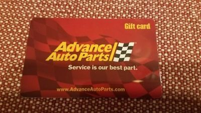 Advanced Auto Parts Gift Card   10 Value Mail Delivery