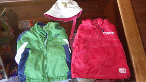 Boys 12-18 months Spring Coats and Sun Hat