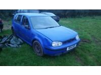Volkswagen Golf 1.9TDI ( 90bhp ) S spares or repairs only whole car