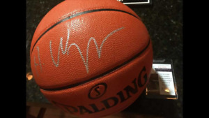 SIGNED Andrew Wiggins basketball with certification
