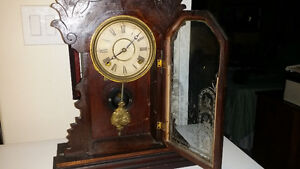 Antique working Gingerbread Clock with Key London Ontario image 2