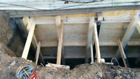 UNDERPINNING. FOUNDATION REPAIRS.   WATERPROOFING SERVICES