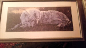 Framed Wolf Print by Lee Cable