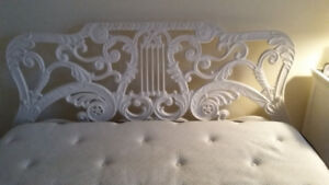 PRICE REDUCED!!! MUST SELL UNIQUE CAST IRON BED FRAME!