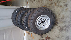 Canam wheels and tires