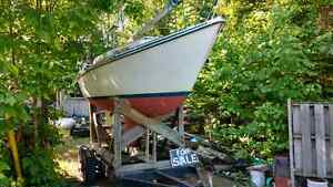 24 ft Abbott sail boat and trailer,all sails included