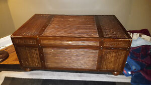 Large trunk and matching end tables