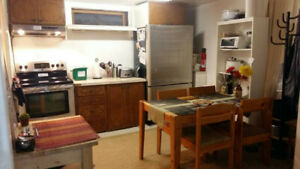 May 1st - 1 clean, furnished room in basement
