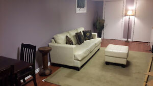 TODAY ONLY Leather couch and ottaman Cambridge Kitchener Area image 1