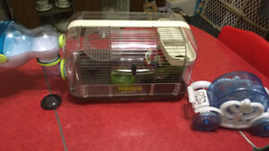 Hamster cage and Cinderella coach hamster vehicle
