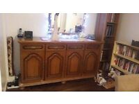 Beautiful French wood side cabinet