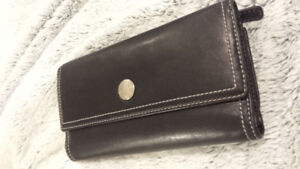 Authentic Black and Pink Leather Coach Wallet