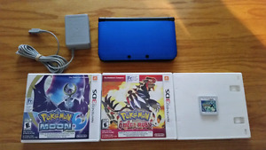 3ds xl pokemon moon, omega ruby and x