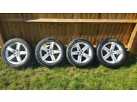 Audi 17 inch A4 winter alloys with tyres