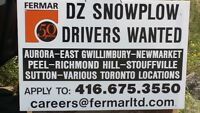 D-Z Winter Maintenance Drivers Wanted