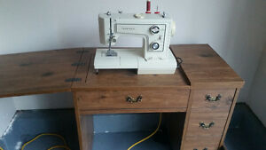 Sewing machine and desk set