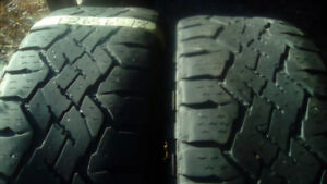 Two Good Year Dura trac LT 265 65 18 winter tires