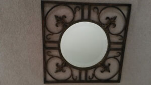 Wrought Iron Accent Mirror