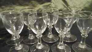 SHERRY OR PORT WINE GLASSES SET OF 8
