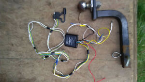 Trailer hitch and 4 pin connector wiring for VW