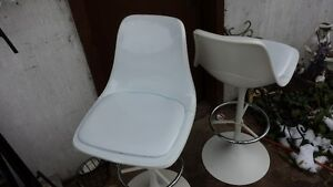 High Back Stools or Chairs Crisp White Strathcona County Edmonton Area image 9