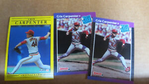 Cris Carpenter MLB rookie cards(2)