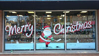 Sign and Window Advertising / Hand Painted Signs / Window Art