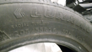 A pair of 205 55 16 Luxxman Winter tires