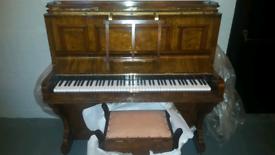 Upright Monington London piano refurbished and tuned