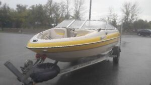 2007 GLASTRON BOW RIDER BOAT 18'  WITH 115 HP YAMAHA 4 STROKE
