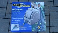 Yard Works Self-Reeling Hose Reel- NEW!